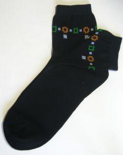 Носки женские черные | Classic 80/20 | с рисунками